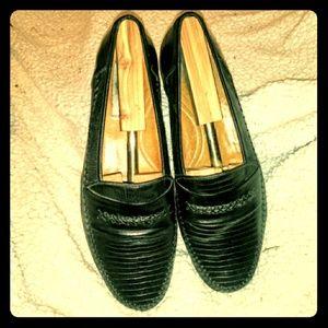 🦎 Mezlan Genuine Lizard Skin Loafer, Size 10.5